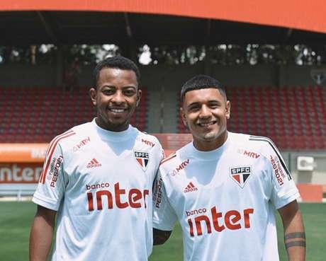 Wellington e Galeano foram relacionados para as partidas contra Ceará e Bahia (Foto: Divulgação/São Paulo)