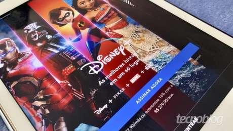 Disney+ no Apple iPad (Imagem: Bruno Gall De Blasi/Tecnoblog)