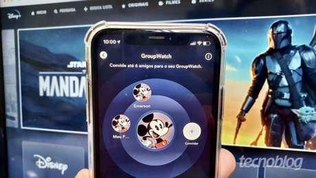 Recurso GroupWatch do Disney+ (Imagem: Bruno Gall De Blasi/Tecnoblog)