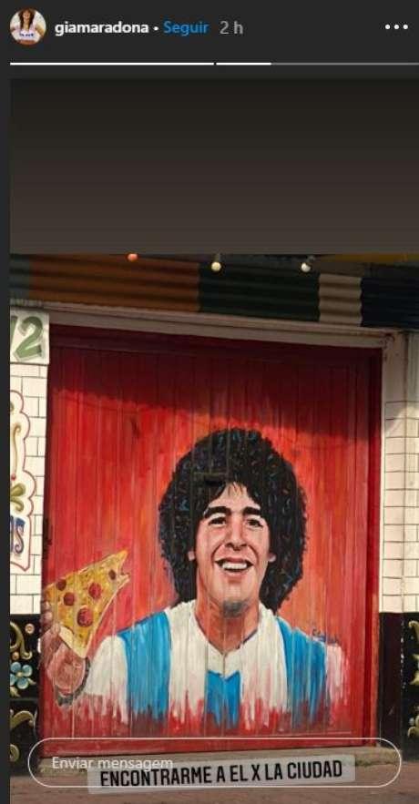 Gianinna Maradona fez homenagem para Maradona