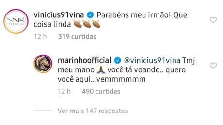 """Marinho """"pede"""" Vina no Santos (Foto: Reprodução)"""