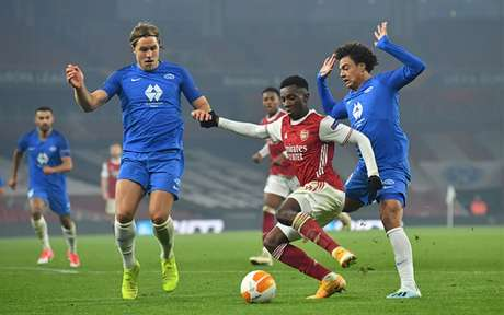 O Arsenal segue invicto na Liga Europa e busca manter o bom rendimento no torneio (Glyn KIRK / AFP)