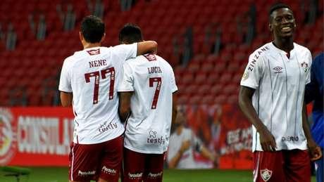 Fluminense vem de vitória no Brasileirão contra o Internacional, no Beira-Rio (Foto: Mailson Santana/Fluminense FC)