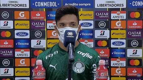 Menino jogou fora de suas posições de origem contra o Delfín (Foto: Reprodução/Transmissão Conmebol)