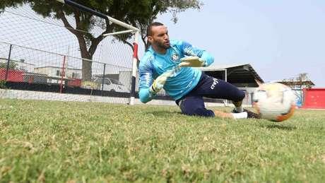 Weverton foi o único titular em campo no treino desta quinta-feira (26) (Foto: Cesar Greco/Palmeiras)