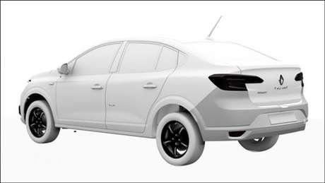 Imagem de registro do Renault Taliant.