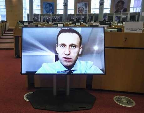 Navalny participou de reunião de deputados no Parlamento Europeu