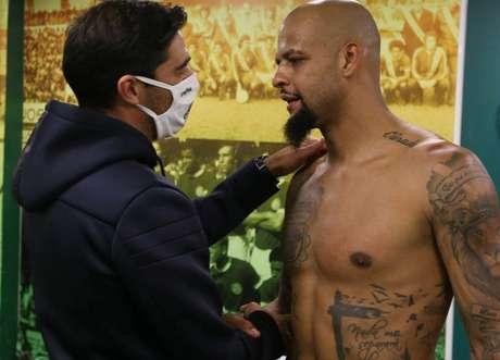 Felipe somente disputou duas partidas sob o comando do novo treinador (Foto: Cesar Greco/Palmeiras)