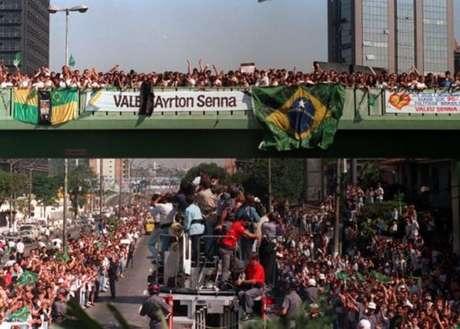 Funeral de Ayrton Senna, a maior comoção da história do Brasil.