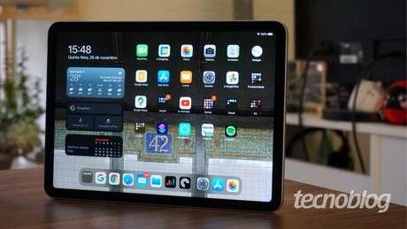 iPad Air ganha novo visual, semelhante ao iPad Pro (Imagem: André Fogaça/Tecnoblog)