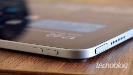 Touch ID está no botão liga/desliga (Imagem: André Fogaça/Tecnoblog)