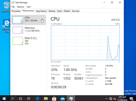 Windows 10 rodando no Apple Silicon (Imagem: Alexander Graf/Twitter)