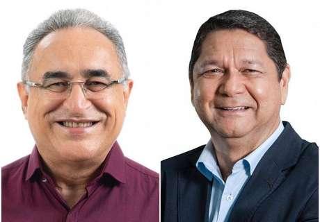 Os candidatos Edmilson Rodrigues (PSOL) e Delegado Eguchi (PATRIOTA)