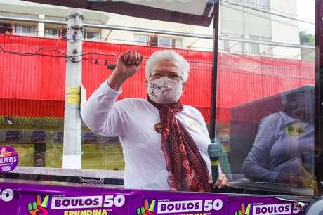 Candidata a vice-prefeita da cidade de São Paulo Luiza Erundina, pela chapa do Psol de Gulherme Boulos