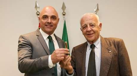 Seraphim Del Grande (direita) ao lado de Maurício Galiotte (Foto: Fabio Menotti/Palmeiras)