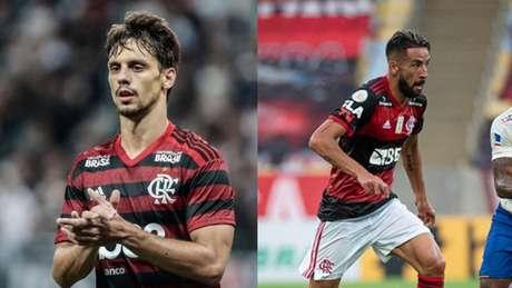 Rodrigo Caio se consagrou pelo ótimo nível em 2019; Isla chegou ao longo deste ano (Fotos: Divulgação / Flamengo)