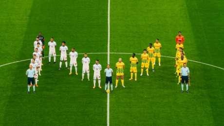 Homenagem a Maradona (Foto: Divulgação Twitter/Olympique de Marseille)