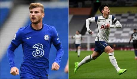 Werner e Son são os destaques de Chelsea e Tottenham na temporada (Foto: AFP; AFP)