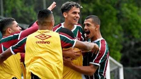 Jogadores do Fluminense comemoraram gol na partida (Foto: Mailson Santana/Fluminense)