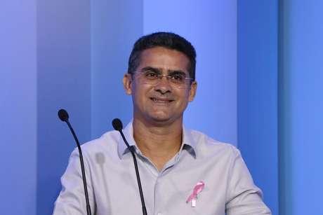 Candidato à Governador do Amazonas, David Almeida (PSB), durante o debate na Rede Amazônica em Manaus (AM)