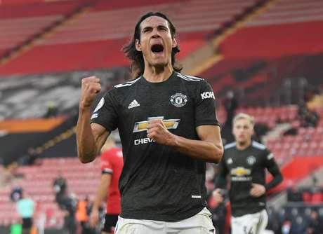 Cavani foi decisivo na vitória do Manchester United