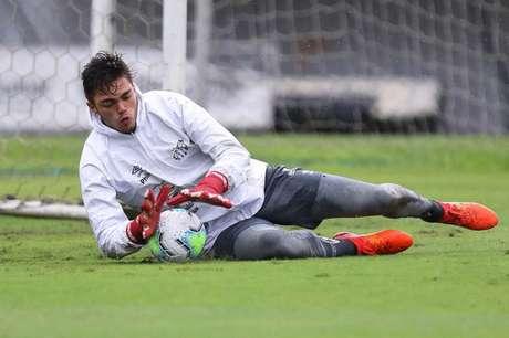 Matheus Saldanha, goleiro do sub-23 do Santos (Pedro Ernesto Guerra Azevedo/Santos)