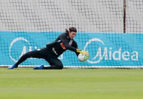 Cássio voltou aos treinamentos neste domingo (Foto: Rodrigo Coca/Agência Corinthians)