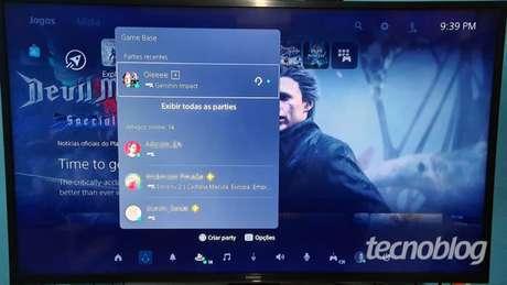 No Game Base há um resumo das suas interações com os amigos (Imagem: Vivi Werneck/Tecnoblog)