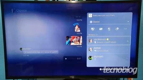 Você pode interagir com amigos estando num PS5, PS4 ou PS App (Imagem: Vivi Werneck/Tecnoblog)