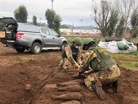 Exército da Itália retirou bombas do CT da Roma