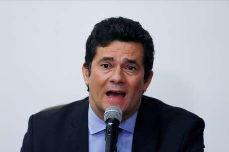 Sergio Moro durante entrevista coletiva em Brasília 24/04/2020 REUTERS/Ueslei Marcelino