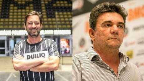 Duílio continuará mandato de chapa de Andrés Sanchez (Fotos: Rodrigo Coca/Agência Corinthians e Divulgação)
