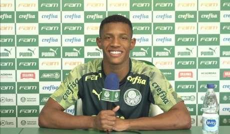 O volante Danilo tem 17 jogos pelo Palmeiras em 2020 (Foto: Reprodução/Youtube)