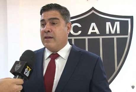 """O presidente do Galo se posicionou sobre os """"baladeiros"""" do clube em meio a um surto de Covid-19-(Reprodução/Atlético-MG)"""