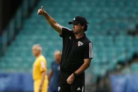 Fernando Diniz iniciou preparação na última segunda-feira para encarar o Goiás (Miguel Schincariol/saopaulofc.net)