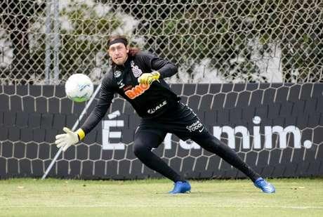 Cássio tem treinado sem restrições nesta semana e deve voltar ao gol do Timão (Foto: Rodrigo Coca/Ag. Corinthians)