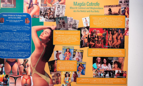 Magda Cotrofe com modelo asa-delta (Foto: Divulgação)