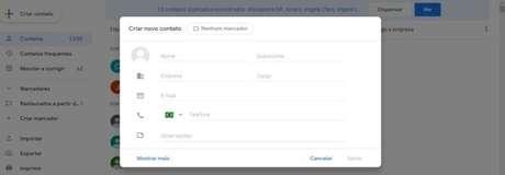 Você pode importar ou exportar contatos no Gmail pelo computador (Imagem: Reprodução / Gmail)