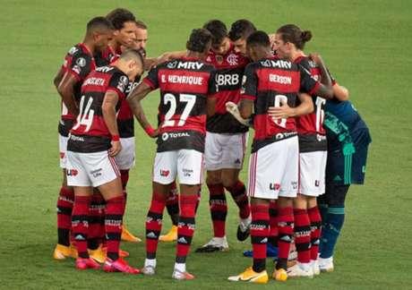 Ficou pelas oitavas: Flamengo caiu diante do Racing, nesta terça (Foto: Alexandre Vidal / Flamengo)