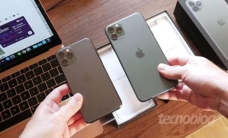 Apple iPhone 11 Pro e 11 Pro Max (imagem: Paulo Higa/Tecnoblog)