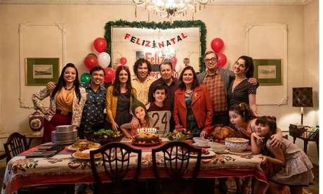 Foto da ceia de Natal em Tudo Bem no Natal que Vem, da Netflix