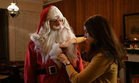 Jorge (Leandro Hassum) e Laura (Elisa Pinheiro) em cena de 'Tudo Bem no Natal que Vem'