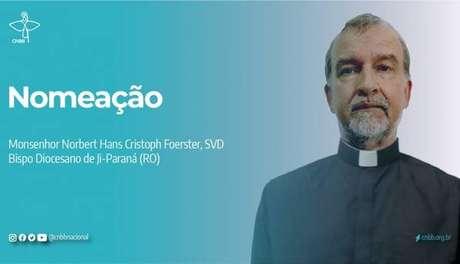 Padre Norbert Foerster foi nomeado como o novo bispo de Ji-Paraná