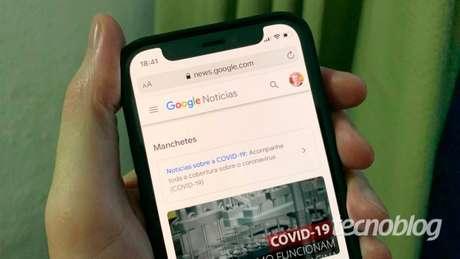 Google Notícias (imagem: Emerson Alecrim/Tecnoblog)
