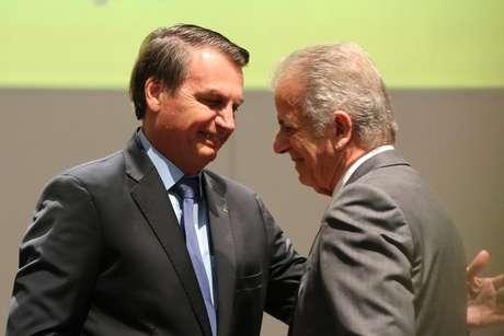 Presidente Jair Bolsonaro e o presidente do TCU, ministro José Múcio Monteiro
