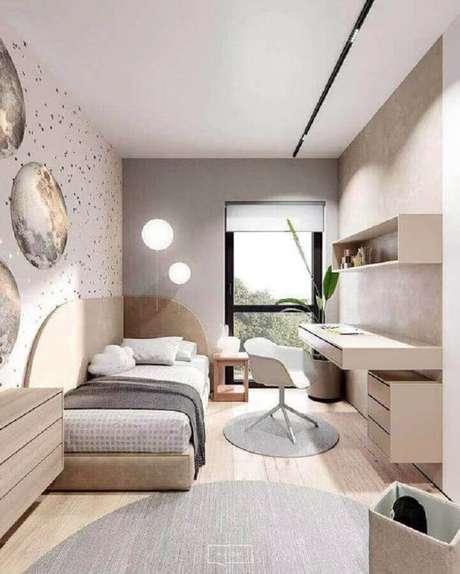 47. Móveis planejado para quarto minimalista de solteiro – Foto: Home Designing