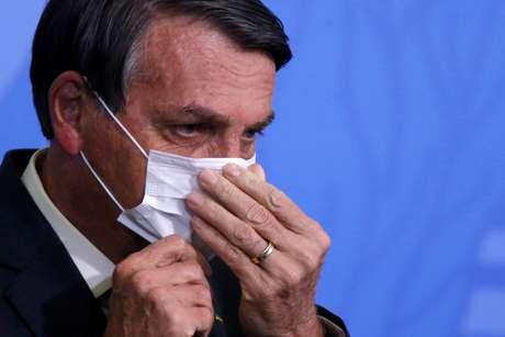 Bolsonaro em evento no  Planalto REUTERS/Adriano Machado