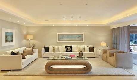 2. A cor bege para sala pode oferecer várias vantagens ao seu ambiente – Foto: Roberta Devisato