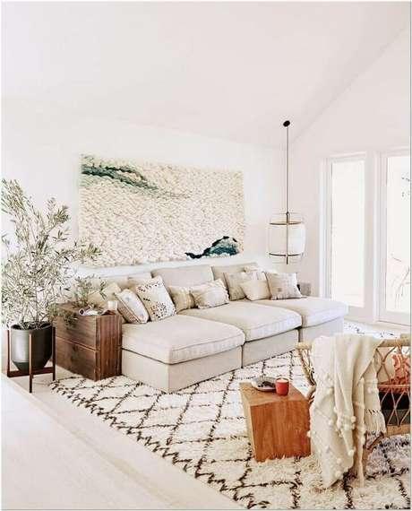 54. Decoração com estilo escandinavo para sala de estar bege – PinterestFoto: