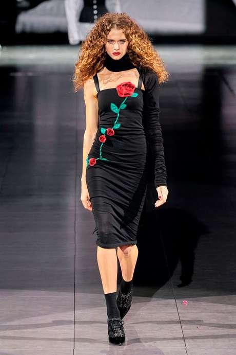 Natália Machado no desfile da Dolce & Gabbana (Foto: Divulgação/Way Model)